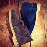 Camouflage desert boots
