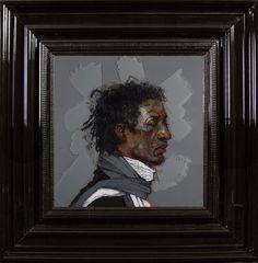Sammy  - Encre et Acrylique sous Perspex - 53 x 53 cm (hors cadre)