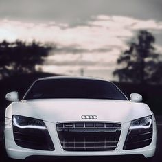 Beautiful White Audi R8
