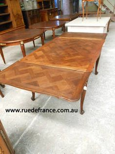 Antique French Parquetry Top Tables ANTIQUE FRENCH CARVED OAK DINING TABLE