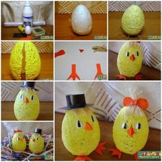 DIY Cute Egg Shaped Easter Chicks from Thread 1