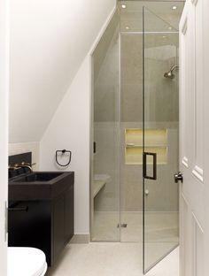#bathroom #slopedceiling   Chiswick House - Stiff + Trevillion