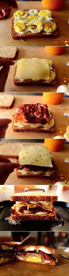 Ultimate Grilled Cheese Sandwich no bacon and healthier substitutes lol oh my gosh