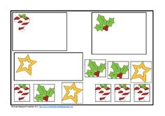 Christmas Kindergarten Reading and Math Centers $