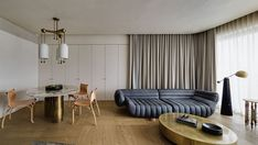 The Imperfect Residence: An Apartment in Hong Kong Embraces the Beauty of Imperfection Cool Apartments, Luxury Apartments, One Bedroom Apartment, Apartment Design, Wabi Sabi, Living Spaces, Living Area, Living Rooms, Architecture Design