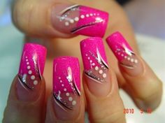 nails by Benson (san antonio) by benson – Nail Art Gallery nailartgallery.na …… - Nail Designs French Nail Designs, Colorful Nail Designs, Cute Nail Designs, Acrylic Nail Designs, Acrylic Nails, Pink Nail Art, Pink Nails, Cool Nail Art, Pink Manicure