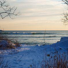 New England winter SUP surf.