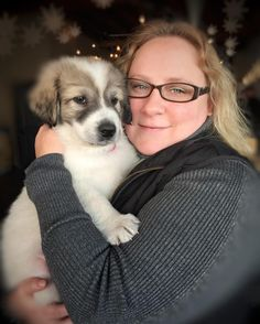 Debby is falling in love with Yeti the Great Pyrenees puppy. #greatpyrenees #pyrenees #puppy #puppylove #puppiesofinstagram #puppyoftheday #puppygram #dog #dogofinstagram #doglovers #doglover