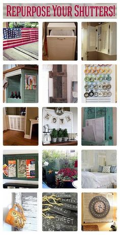 The next you time come across a window shutter in the dump, or if you have one right now you're thinking of trashing, consider these smart ways of recycling those old window shutters: http://theownerbuildernetwork.co/ozn5  Looking for a way to recycle old window shutters? Here are few examples you might like.