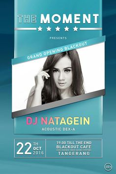 Flyer Event Signature Moment Blue DJ Natagein-Indonesia #poster #design #layout #music #flyer #event
