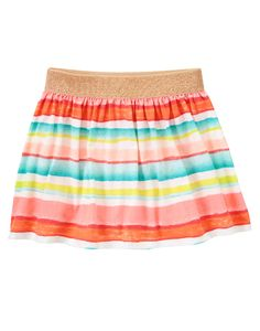 Painted Stripe Skort at Gymboree (Gymboree 3-12y)