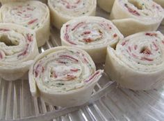 The filling for this recipe is also how we make our cheeseball (just ball it up and add a coating of roasted chopped pecans!) I decided today to try it in a tortilla rollup. They were a huge hit at my Mary Kay party!