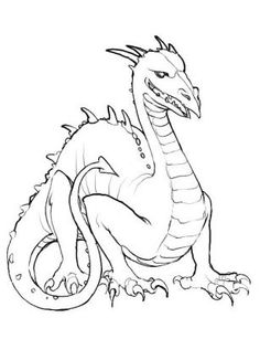 dragon coloring page - Kids Coloring Book
