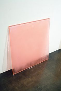 Rebecca Holland, Pink Sheet, 2007  {cast sugar, polyurethane // 46 x 46 x .75 inches}
