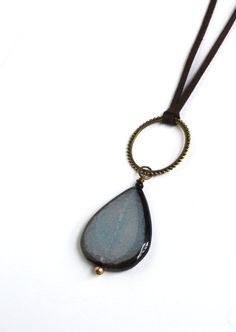 Blue Bohemian Long Necklace