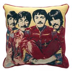 Beatles Red Cushion - Cushions - Accessories - Andrew Martin
