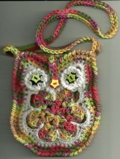 Tote Your Small Electronics in This Cute Owl Tote Crocheted Camera Phone Etc | eBay