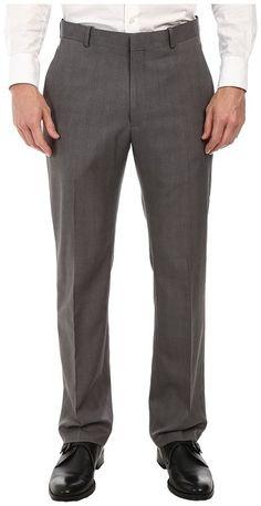 Perry Ellis Portfolio - Travel Luxe Modern Fit Windowpane Plaid Pants Men's Dress Pants