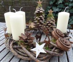 Wunderschöner Weihnachtskranz. Noch mehr Weihnachtsideen gibt es auf www.spaaz.de