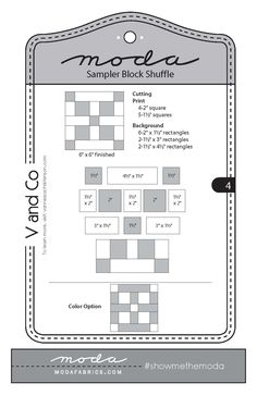 Fort Worth Fabric Studio: Moda Sampler Block Shuffle {Block 4}