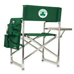 The Boston Celtics Sports Chair with folding side table from Picnic Time