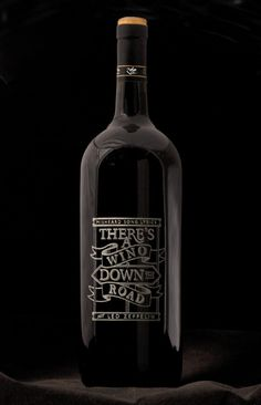 Love the idea of lyrics on a wine bottle! Great for a wedding or even just around the house!