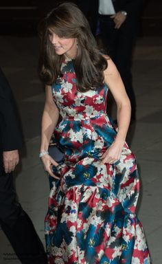 Duchess Kate: The Duchess in Floral-Print Erdem Gown & Sparkling Jewels for 100 Women in Hedge Funds Gala Dinner