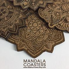 ( Mandala Coaster Set ) Available @ www.fadehurricane.etsy.com | @etsy |  _ _ _ #art #design #coasters #sets #lasercut #laserengraved #mandala #homedecor #homegoods #wood #etsy #etsyshop #shopetsy #usamade #handmade #coasters #designinspiration #etsyseller  #instaart #drinkcoasters #arttechnologyanddesign #fadehurricane