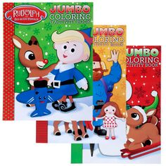 rudolph the red nosed reindeer jumbo coloring and activity book rudolph the red nosed reindeer pages christmas themed coloring activity book