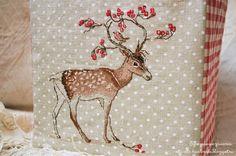 Happiness is Handmade: Текстильный короб с оленем