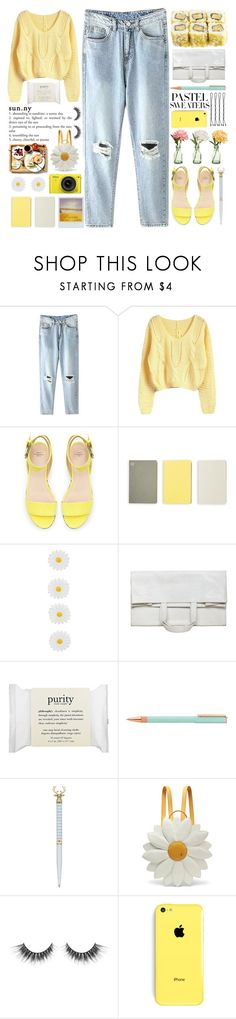 """#722 Ship"" by mayblooms ❤ liked on Polyvore featuring Peony, Zara, Monocle, Monsoon, Maison Margiela, philosophy, Ted Baker, Nikon, Charlotte Olympia and pastels"
