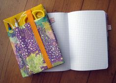 fabric covered journal by jill bliss :)