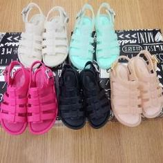 ad83dbd70fca8 Brand New Mini Melissa Flox Slingback Sandal Toddler Baby Gladiator Shoes  Cool Summer Shoes Dhl Free