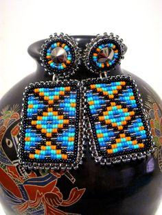 Beaded earrings... seneca