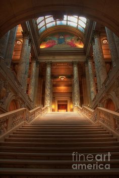 Prints available from $17 State Capital Of Minnesota Staircase