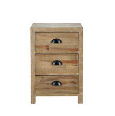 Table de chevet avec tiroir en bois L 40 cm Woodpecker