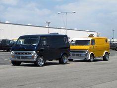 Pair of Custom 70's Ford van's