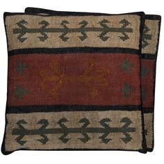 Handmade Herat Oriental Kilim Pillows (Set of Two) (Handmade Rustic Tribal Kilim Accent Pillow), Beige, Size 20 x 20