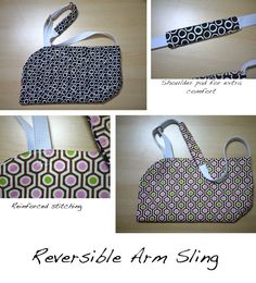 Rozi's Needlework: Funky Reversible Arm Sling