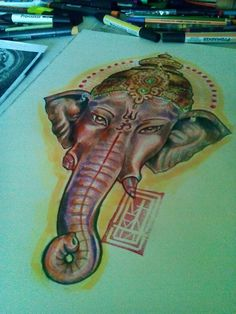 Ganesha Design Pencils