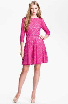 NWT! $198 French Connection 'Fast Iris' Lace Fit & Flare Dress | SZ 8 | A087 #FrenchConnection #FitFlare