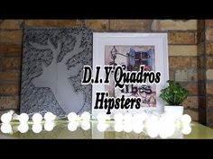 D.I.Y Quadros Hipsters - YouTube