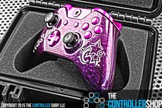 Glossy pink marble Xbox One controller. Design a controller that's anything but ordinary at http://tcs.bz/lab.php