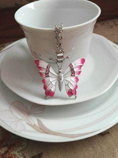 Butterfly pink Schmetterling
