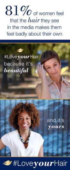 Dove Hair wants to break down the beauty standards that prevent women from embracing their unique hair. Join us in celebrating a beautifully diverse range of lengths, textures, colors at Pinterest.com/DoveHair. #LoveYourHair