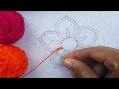 Handcrafting a satin stitch flower embroidery may well be a lost art in the near future. However, this is a skill that anyone can practice and learn and make beautiful embroidery handpieces for all occasions. Hand Embroidery Flowers, Hand Embroidery Tutorial, Hand Embroidery Stitches, Diy Embroidery, Embroidery Techniques, Embroidery Patterns, Button Hole Stitch, Sewing Crafts, Sewing Projects