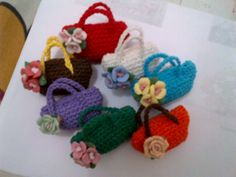 My brooches.....little...mini...bags...