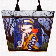 Tote bag Heart of Nails Jasmine Becket Griffith large purse on Etsy, $54.75