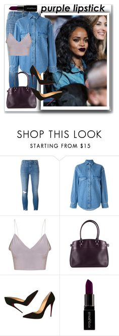 """""""mauve"""" by kristennevanss on Polyvore featuring beauty, MAC Cosmetics, J Brand, Golden Goose, Louis Vuitton, Christian Louboutin and Smashbox"""