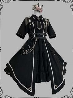 Cosplay Dress, Cosplay Outfits, Edgy Outfits, Anime Outfits, Mode Outfits, Pretty Outfits, Pretty Dresses, Old Fashion Dresses, Fashion Outfits